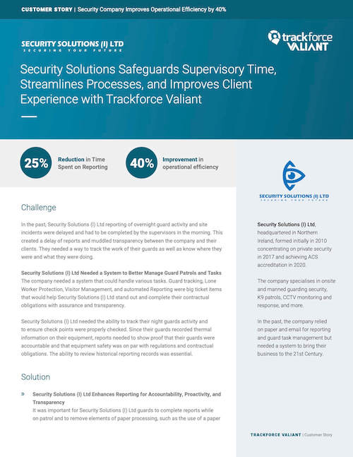 Security Solutions (I) Ltd Case Study Cover Image